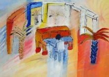 De pianist ( Zand en acryl op Canvas )