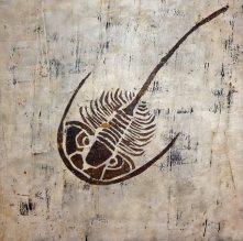De trilobiet ( Gips en acryl op Canvas )