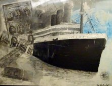 The Titanic ( Toner prints en acryl op Canvas )