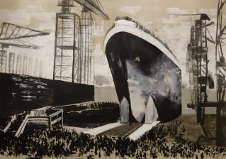 Oilpaint and charcoal on cardboard ( 70x100cm ) / The Titanic
